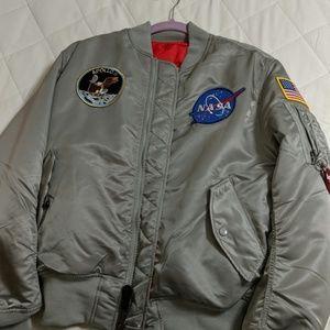 Men's medium NASA alpha industries bomber jacket